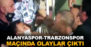 Aytemiz Alanyaspor-Trabzonspor maçında olaylar çıktı