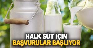 Halk Süt için başvurular başlıyor