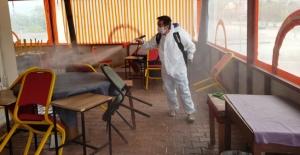 Kahvehaneler dezenfekte ediliyor