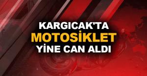Kargıcak'ta motosiklet yine can aldı