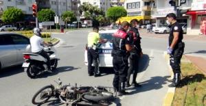 Polisin dur ihtarına uymayan genç kaza yaptı