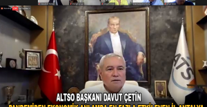 """ATSO Başkanı Davut Çetin: """" Pandemiden ekonomik anlamda en fazla etkilenen il Antalya """""""