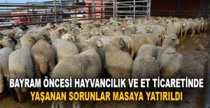 Bayram öncesi hayvancılık ve et ticaretinde yaşanan sorunlar masaya yatırıldı