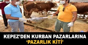 Kepez'den kurban pazarlarına  'Pazarlık Kiti'