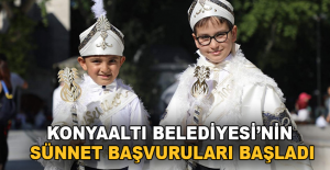 Konyaaltı Belediyesi'nin 'sünnet' kayıtları başladı