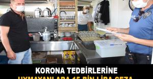 Korona tedbirlerine uymayanlara 15 bin lira ceza