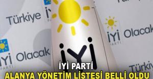 İyi Parti Alanya yönetim listesi belli oldu
