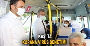 Kaş'ta Korona virüs denetimi