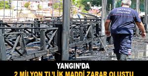 Yangında 2 milyon TL'lik maddi zarar oluştu