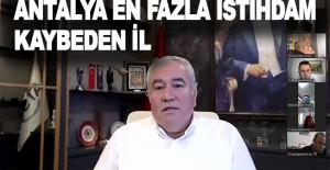 """ATSO Başkanı Çetin: """"Antalya en fazla istihdam kaybeden il """""""