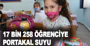 Kepez'den 17 bin 258 öğrenciye portakal suyu