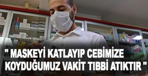 """Antalya Eczacılar Odası Başkanı Ertekin: """"Maskeyi katlayıp cebimize koyduğumuz vakit, tıbbi atıktır"""""""