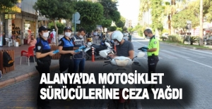 Alanyada kurallara uymayan motosiklet...
