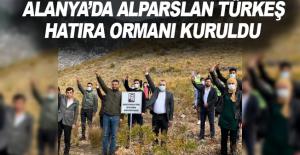 Alanya'da Alparslan Türkeş hatıra ormanı kuruldu
