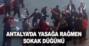 Antalya'da yasağa rağmen sokak düğünü