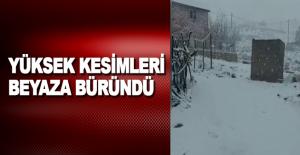 Antalya'nın yüksek kesimleri beyaza büründü