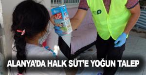 Alanya'da Halk Süt'e yoğun talep