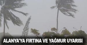Alanya'ya fırtına ve yağmur uyarısı