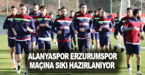 Alanyaspor Erzurumspor maçına sıkı hazırlanıyor