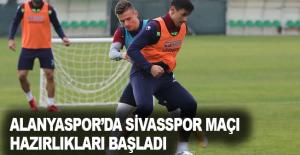 Alanyaspor'da Sivasspor maçı hazırlıkları başladı