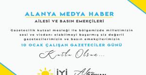 İyi Parti 10 Ocak Gazeteciler günümüzü kutladı
