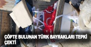 Çöpte bulunan Türk bayrakları tepki...
