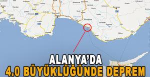 Alanyada 4.0 büyüklüğünde deprem