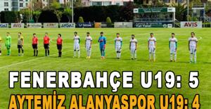 Fenerbahçe U19 - Aytemiz Alanyaspor U19: 5-4