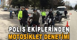 Polis Ekiplerinden Motosiklet Denetimi