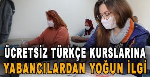 Ücretsiz Türkçe kurslarına yabancılardan yoğun ilgi