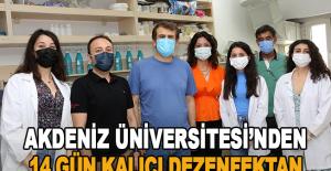 Akdeniz Üniversitesi'nden 14 gün kalıcı dezenfektan