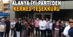 Alanya İYİ Parti'den kermes teşekkürü