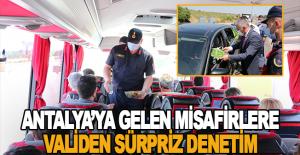 Antalya'ya gelen misafirlere validen sürpriz denetim