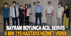 Bayram Boyunca Acil Servis 4 bin 719 Hastaya Hizmet Verdi