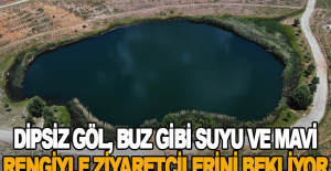 Dipsiz Göl, buz gibi suyu ve mavi rengiyle ziyaretçilerini bekliyor