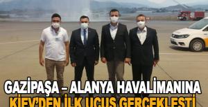 Gazipaşa – Alanya Havalimanına Kiev'den ilk uçuş gerçekleşti