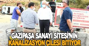 Gazipaşa Sanayi Sitesi'nin kanalizasyon çilesi bitiyor