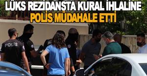 Lüks rezidansa polis baskını