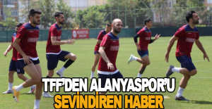 TFF'den Alanyaspor'u sevindiren haber