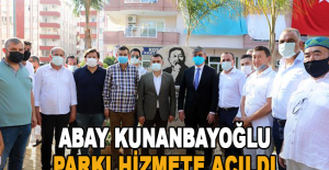 Abay Kunanbayoğlu Parkı hizmete açıldı