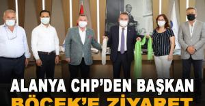 Alanya CHP'den Başkan Böcek'e ziyaret