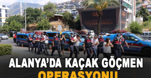 Alanya'da kaçak göçmen operasyonu