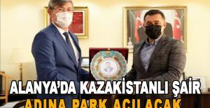 Alanya'da Kazakistanlı şair adına park açılacak
