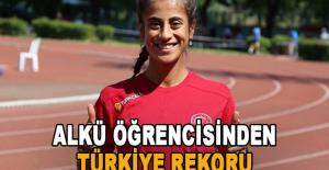 ALKÜ öğrencisinden Türkiye rekoru
