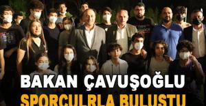 Bakan Çavuşoğlu, Kepez'in sporcularıyla buluştu