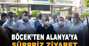 Başkan Böcek'ten Alanya'ya sürpriz ziyaret