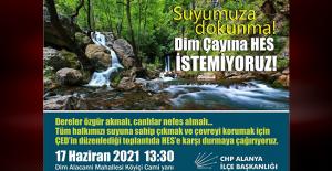 CHP'den Dim Alacami Mahallesi'ne destek