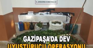 Gazipaşa'da dev uyuşturucu operasyonu