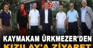 Kaymakam Ürkmezer'den Kızılay'a Ziyaret
