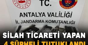 Silah ticareti yapan 4 şüpheli tutuklandı